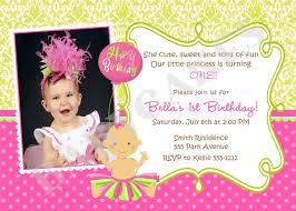 princess birthday party invitations spectacular first birthday invitation ideas for baby 1st birthday invitation