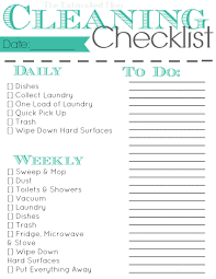 cleaning checklists cleaning checklist to keep you sane the exhausted mom