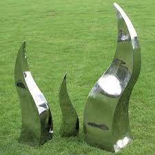 metal garden sculptures amazing flames in stainless steel