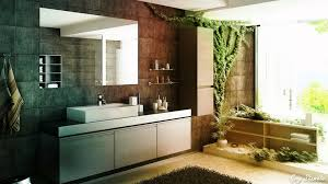 bathroom, Terrific Furniture And Chic Crepeed Bathroom Plants Decor On  Rustic Wall Near Wooden Storage