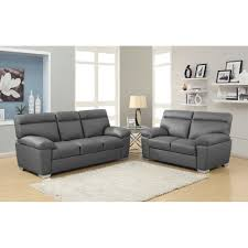 High Back Sofas alto italian inspired high back leather sofa collection in dark grey 4945 by guidejewelry.us