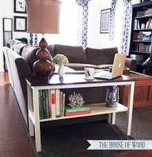 clean looking wooden table for a neat living room