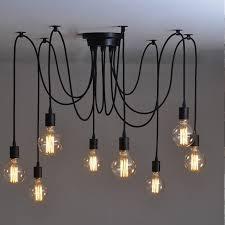 Hanglamp Losse Bollen 6 Stuks 120cm Kabel Zwart Complete Set