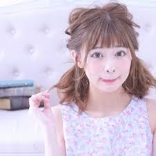 ツインテール 夏 色気 ミディアムcache Cache Wataru Maeda 313411hair