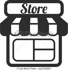 store clipart black and white. Plain Clipart Store Supermarket Vector Icons With Clipart Black And White L