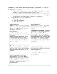 Argumentative Writing Answer Chart Proposal Unit