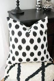 ikat polka dot pillow