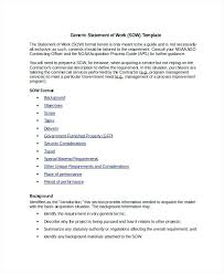 It Sow Template Sample Of The Sow Statement Work Template How Write Any Industry