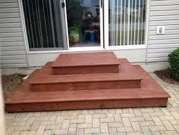 patio stairs patio steps wood patio