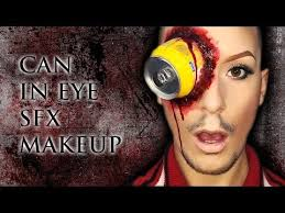 gory can in eye easy sfx makeup tutorial inspired by ellimacs using nyx