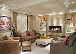 living room interior design with fireplace. View In Gallery Contemporary Living Room With A Modern Fireplace Interior Design G