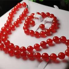 whole 925 sterling silver natural red jade gemstone beads pendant necklace bracelet earrings women jewelry set diamond pendant love necklace from