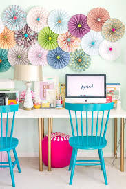 Home office colorful girl Bedroom Colorful Office Spacevia An Editors Attempt At Boosting Pinterest Colorful Office Spacevia An Editors Attempt At Boosting