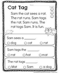 After completing phonics word families and cvc words with my kindergarten kids, i like to introduce short passages for reading fluency. Reading Comprehension Passages Reading Comprehension Passages Reading Comprehension Kindergarten Reading Comprehension Worksheets