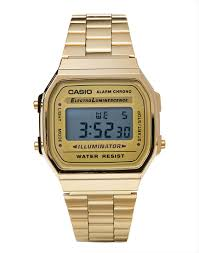 casio a168wg 9wdf digital bracelet watch gold at the idle man