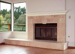 refacing brick fireplace with slate tile