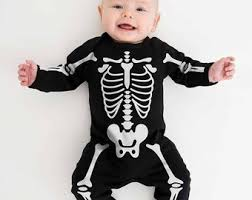 Baby Skeleton Halloween Costume. Skeleton Babygrow. Newborn 0 3 Months Baby  Halloween Outfit. Halloween Baby Clothes. Spooky Baby Grow. UK