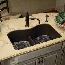 black undermount sink. Brilliant Undermount EELGULB3322BK0 Quartz Classic WhiteColor Undermount  Double Bowl Kitchen  Sink Black At FergusonShowroomscom With N