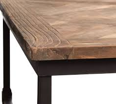 parquet 71 reclaimed wood console