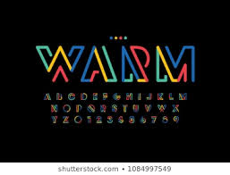 Font Styles Abstract Stock Vectors Images Vector Art