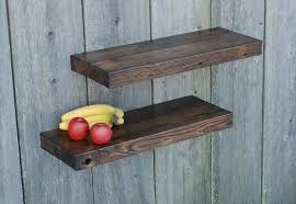 Salvaged Wood Floating Shelves Extraordinary Wooden Floating Wall Shelves Sevenstonesinc