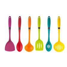 Art and Cook Silicone Utensil Set 19 liked on Polyvore