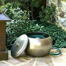 garden hose pot with lid. Copper Garden Hose Holder Pot With Lid