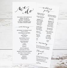 wedding reception program templates free download free wedding program templates wedding program ideas