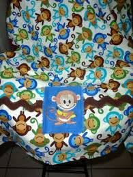 CLEARANCE SALE Monkey print Carseat Canopy Boys carseat cover