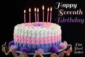 Girls Petal Birthday Cake Happy Birthday Little Cup Pint Sized Baker