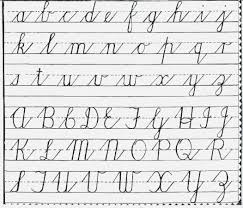 Handwriting Worksheets Cursive Writing Chart Free Printable