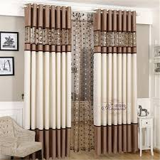 luxury stitching embroidery yarns blackout curtains bedroom finished curtain fabric living room window curtain in