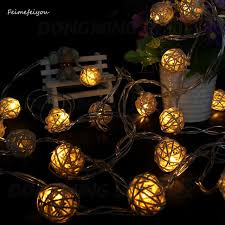 10leds 1m 5cm rope lights christmas decoration ornaments wedding party hand weaved rattan ball lantern string christmas rope lighting m53 christmas