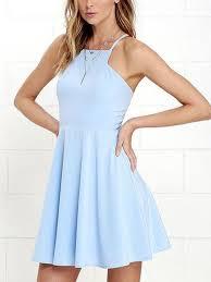 Short Light Blue Grad Dresses A Line Open Back Short Sky Blue Prom Dresses Backless Short Blue Formal Dresses Light Blue Graduation Homecoming Dresses