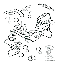 washing hands coloring page hand pages germs germ colouring