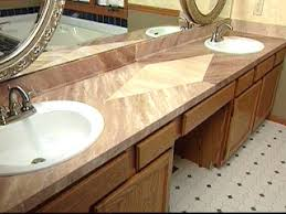how to give a laminate countertop a faux marble finish