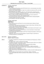 Payroll Resume Specialist Sample Fantastic Templates Clerk