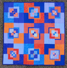 377 best ORANGE QUILTS images on Pinterest | Block quilt ... & See the little white deer on the cyan background and also the same print in  an orange? Adamdwight.com