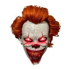 Halloween Mask Light Up Eyes Amazon Com Haho Pennywise Stephen Kings It Mask Horror