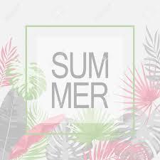夏おしゃれなトロピカル リーフ柄ベクトルのイラスト素材ベクタ