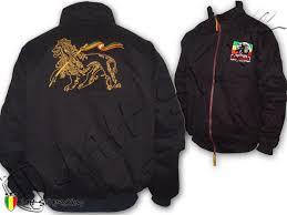 Layer Of Logo Rasta Conquering Double Lion Reggae Marley Judah Embroidered Coat Bob