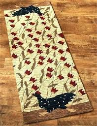 area rugs and runners rooster rug en run hooked runner x black furniture matching