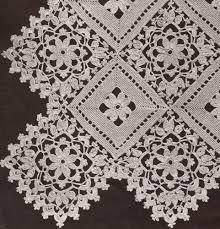 Crochet Tablecloth Pattern Impressive Amazon Vintage Crochet PATTERN To Make Block Lace Motif