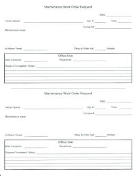 Extra Work Order Template Use This Form To Request