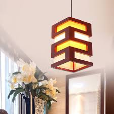 pendant lights with leather fabric oriental rectangular shade