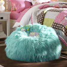 bedroom bean bag teen bedroom chairs with fur in blue color cool with regard to
