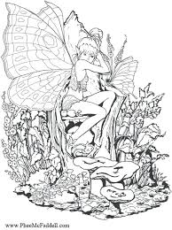 Fairy Coloring Sheets Evil Fairy Coloring Pages For Adults Best