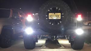 Rigid Back Up Lights Installing Rigid Industries Ignite Reverse Lights Jeep Wrangler Rubicon