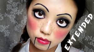 easy makeup creepy cute doll