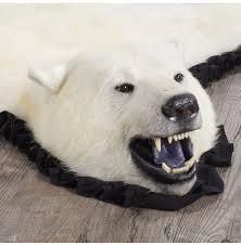 polar bear rug 14001 at bear skin rugs
